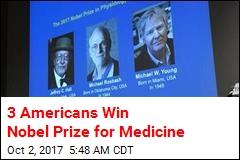 3 Americans Win Nobel Prize for Medicine