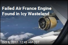 Failed Air France Engine Found in Icy Wasteland