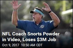 Dolphins Coach Quits Over Video of Him Snorting Powder