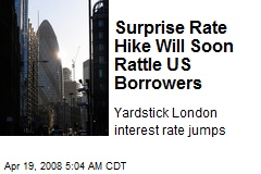 Surprise Rate Hike Will Soon Rattle US Borrowers