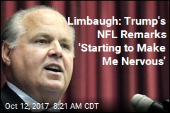 Limbaugh: 'Very Uncomfortable' With Trump's Pressure on NFL