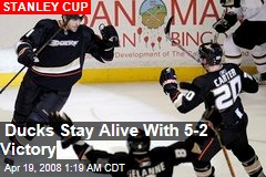 Ducks Stay Alive With 5-2 Victory