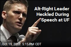 Alt-Right Leader Heckled During Speech at UF
