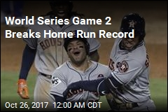 World Series Game 2 Breaks Home Run Record
