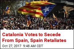 Catalonia Votes to Secede From Spain, Spain Retaliates
