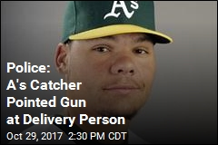 Oakland A's Catcher Arrested on Gun Charges
