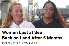 Women Lost at Sea Set Foot on Land, Thank Rescuers