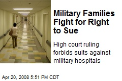 Military Families Fight for Right to Sue