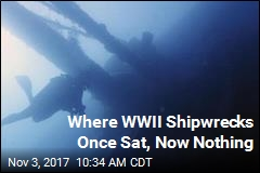 Where WWII Shipwrecks Once Sat, Now Nothing