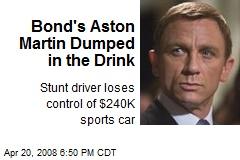 Bond's Aston Martin Dumped in the Drink