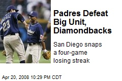 Padres Defeat Big Unit, Diamondbacks