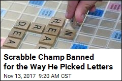 Scrabble Champ Banned for Sketchy Tile Selection
