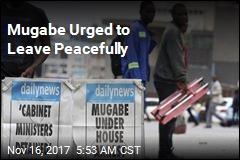 Mugabe Urged to Leave Peacefully
