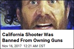 California Shooter Was Banned From Owning Guns