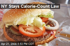 NY Stays Calorie-Count Law