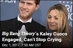 Big Bang Theory 's Kelly Cuoco Engaged, Can't Stop Crying