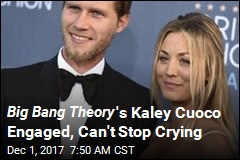 Big Bang Theory 's Kelly Cuoco Engaged, Can't Stop Crying