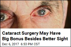Cataract Surgery May Have Big Bonus Besides Better Sight