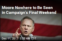 Moore Nowhere to Be Seen in Campaign's Final Weekend
