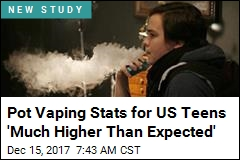 Pot Vaping Stats for US Teens 'Much Higher Than Expected'