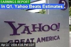 In Q1, Yahoo Beats Estimates