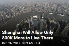 Shanghai Will Allow Only 800K More to Live There