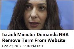 Israeli Minister Demands NBA Remove Term From Website