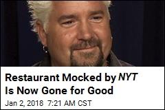 Say Goodbye to Guy: NYC Restaurant Shuttered