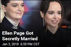 Ellen Page Got Secret Married