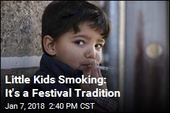 Strange Festival Tradition: Kids Smoking Cigarettes