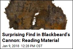 300-Year-Old Reading Material Found in Blackbeard's Cannon