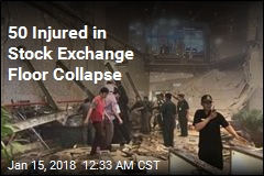 50 Injured in Stock Exchange Floor Collapse
