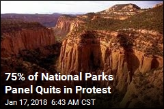 75% of National Parks Panel Quits in Protest
