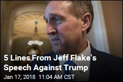 5 Lines From Jeff Flake's Speech Against Trump