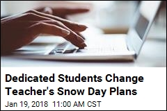 Kids on Snow Day Ask Teacher for Facebook Live Class