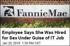 Suit: Fannie Mae Manager Hired Stripper to Have Sex With Him