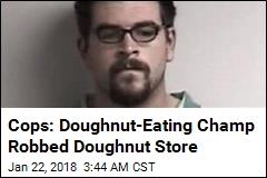 Doughnut-Eating Champ Charged in Dunkin' Robbery