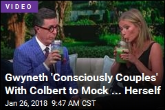 Gywneth Paltrow Pokes Fun at Goop With Colbert