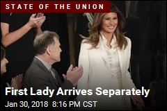 First Lady Arrives Separately