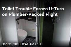 Toilet Trouble Forces U-Turn on Plumber-Packed Flight