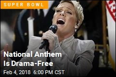 National Anthem Is Drama-Free