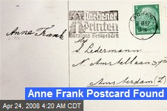 Anne Frank Postcard Found