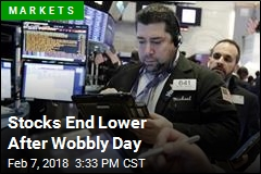 Stocks End Lower After Wobbly Day