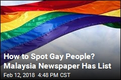 Malaysian Paper Runs List on How to Spot Gays