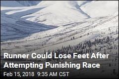 Runner Could Lose Feet After Attempting Punishing Race