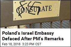 Swastiskas Scrawled on Polish Embassy in Israel