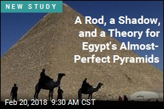 A Rod, a Shadow, and a Theory for Egypt's Almost- Perfect Pyramids