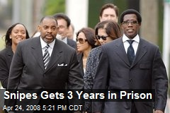 Snipes Gets 3 Years in Prison