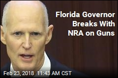 Florida Governor Breaks With NRA on Guns