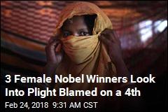3 Female Nobel Winners Look Into Plight Blamed on a 4th